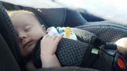 Baby relaxed in God's rest